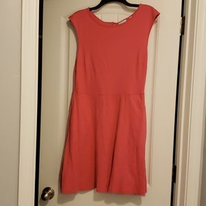 New york and company coral dress with pockets
